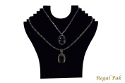 Regal Pak ® Black Flocked Cardboard Necklace Stand 23cm X 24cm H