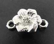 Magnetic Flower Clasp 14x7mm Silver Colour