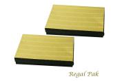 Regal Pak Two-Piece Gold Texture Cotton Filled Box 18cm x 13cm x 2.9cm H