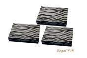 Regal Pak Three-Piece Zebra Texture Cotton Filled Box 18cm x 13cm x 2.9cm H
