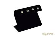 Regal Pak ® Black Velvet Curved Earring Stand 10cm X 5.4cm X 7.3cm H