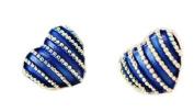 HotEnergy lovely cute vintage great gift peach heart stripe stud earrings