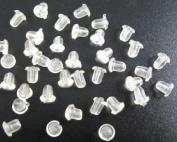 2000 PCS White Rubber Bullet Earring Back Stoppers 5x5mm