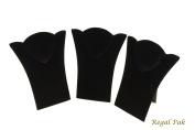 Regal Pak ® Three-Piece Black Velvet Necklace Easel 11cm X 14cm H