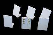 Regal Pak ® Six-Piece White Leatherette Earring/Pendant Stand 5.1cm X 3.8cm X 7.6cm H