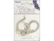 Darice 19cm Sterling Silver Plated Snake Chain Bracelet, 2-Piece