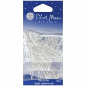 Blue Moon Beads BMVPMPF-12575 Blue Moon Value Pack Metal Findings-Thin Eye Pins Silver 132- Pkg Assorted