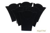 Regal Pak ® Six-Piece Black Velvet Necklace Easel 17cm X 20cm H