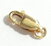 2 pcs 14k Gold Filled Straight Lobster Claw Clasp Bead Open Jump Ring 10mm / Findings / Yellow Gold