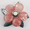 Laliberi-Vintage Petals Complete Broach/Pendant Kit-Silver Sunburst