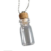 Mini Apothecary Bottle w/ Ball Chain Necklace