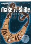 Make It Shine Metal Bead Brown Necklace Kit