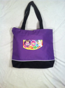 Loom Band Large Tote Bag-purple- (Perfect for Carrying All of Your Colourful Rubber Bands Loom Accessories.