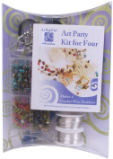 """Art Night Out Party Kit for Wire Jewellery Necklaces or Bracelets, Silver with """"Hot"""" Colours"""