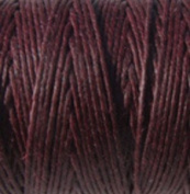 Waxed Irish Linen-Maroon. Sold per 10 yards of 2 ply