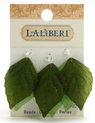 Laliberi Beads, Leaves Large, Green Assorted