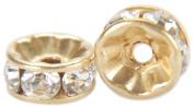 . Crystal Spacer Beads Rondelle 6Mm 3/Pkg