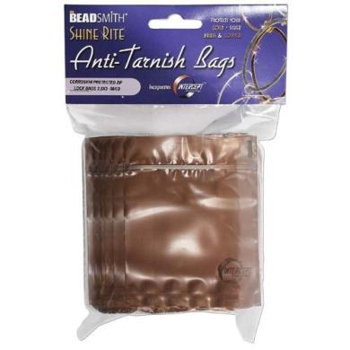 Shine Rite Anti-Tarnish Self Sealing Plastic Bags 6.4cm x 7.6cm (10 Bags)
