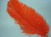 1 Pc Ostrich Feather Plume 46cm - 60cm (Top Quality) - ORANGE