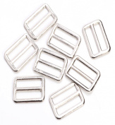 50pc 24 X 17mm Metal Square Ring Buckle DIY Luggage Belt Shoe Doll Hat Slide Making Sewing Craft