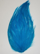 6 Pcs Hackle Feather Pads - TURQUOISE