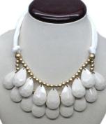 WIIPU Handmade white teardrop bubble necklace,statement bubble necklace,bubble jewellery