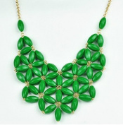 WIIPU Bubble Necklace, Green Necklace, Statement Necklace