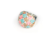 Viva Beads Coral Reef Ring | Stretch Crystal | - Handmade Clay Beads Jewellery 05106025