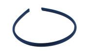 Trimweaver 12-Piece Satin Covered Plastic Headband for Jewellery Making, 7mm, Navy