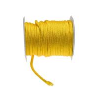Yellow Braided Nylon Cord-4mm Round-65 feet