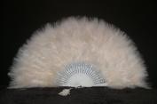 Marabou Feather Fan 30cm x 50cm - BEIGE