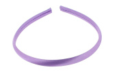 Trimweaver 12-Piece Satin Covered Plastic Headband for Jewellery Making, 10mm, Orchid