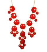WIIPU red Bubble Necklace, Green Necklace, Statement Necklace