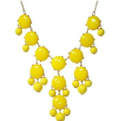 WIIPU yellow Bubble Necklace, Green Necklace, Statement Necklace