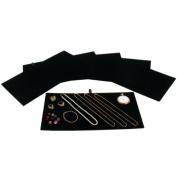 Jewellery Display Tray Insert Pad Black Velour 36cm 6Pcs