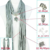 DIY Scarf Accessories, Variety Pendants Charm Jewellery Scarf, Necklace Pashmina