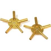 10 Sizes Clock Keys 5 Prong Mainspring Winding Tools