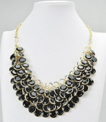 WIIPU Floating Acrylic Necklace,Blue Acrylic Necklace,Statement Necklace