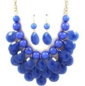 Handmade Blue teardrop bubble necklace,statement bubble necklace,bubble jewellery