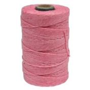 Waxed Irish Linen-Light Rose. Sold per 50 gramme spool approx 90-100 yards of 4-ply.