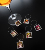 Photo Wine Charm Tags Kit Set of 12 Large Tags