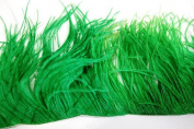 90cm OSTRICH Feather Fringe - KELLY GREEN