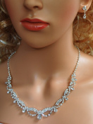 SparklyCrystal Bridal Crystal Necklace Set N1D77