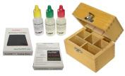 . 10k/14k/18k Gold Test Acid Solutions Tester Kit Detect Metals Scrap Jewellery + Wooden Box + PRO 5.1cm x 5.1cm Testing Stone