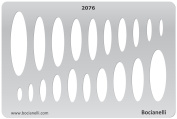 Plastic Stencil Template for Graphical Design Drawing Drafting Metal Clay Jewellery Jewellery Making - Ovals Ellipse
