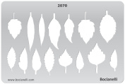 Plastic Stencil Template for Graphical Design Drawing Drafting Metal Clay Jewellery Jewellery Making - Leaf Leaves