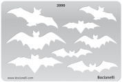 Plastic Stencil Template for Graphical Design Drawing Drafting Metal Clay Jewellery Jewellery Making - Bats Bat Batman Shape