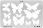 Plastic Stencil Template for Graphical Design Drawing Drafting Metal Clay Jewellery Jewellery Making - Butterfly Butterflies shape