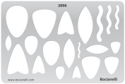 Plastic Stencil Template for Graphical Design Drawing Drafting Metal Clay Jewellery Jewellery Making - Stone Pendant Chalk Shapes
