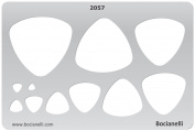 Plastic Stencil Template for Graphical Design Drawing Drafting Metal Clay Jewellery Jewellery Making - Fat Triangle Triangles